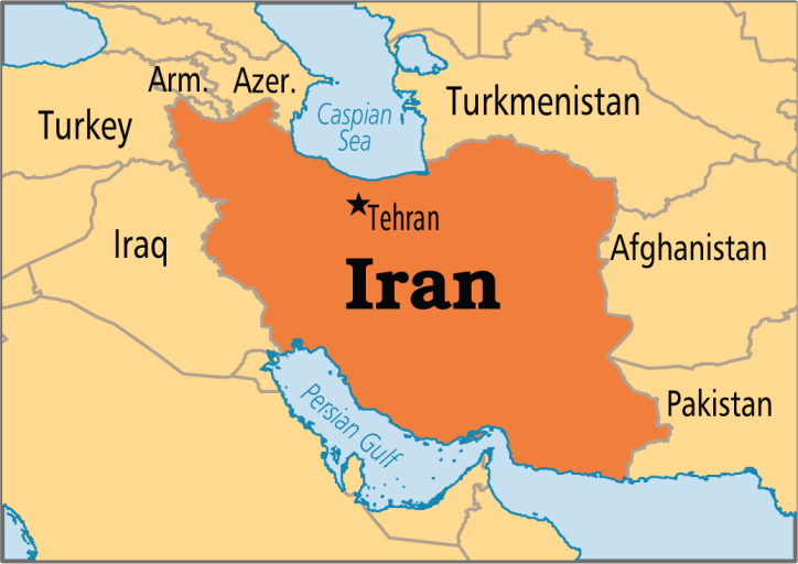 A map of Iran