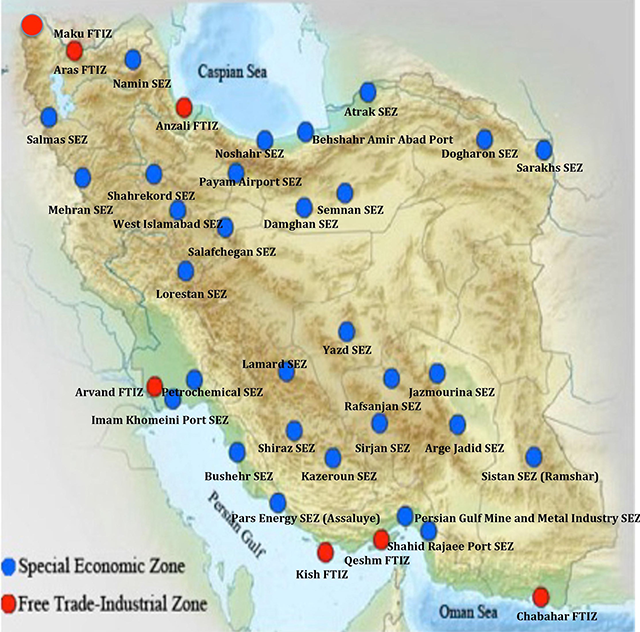 Trade Zones in Iran